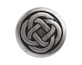 6 Celtic Knot 5/8 inch ( 15 mm ) Metal Buttons Silver Color