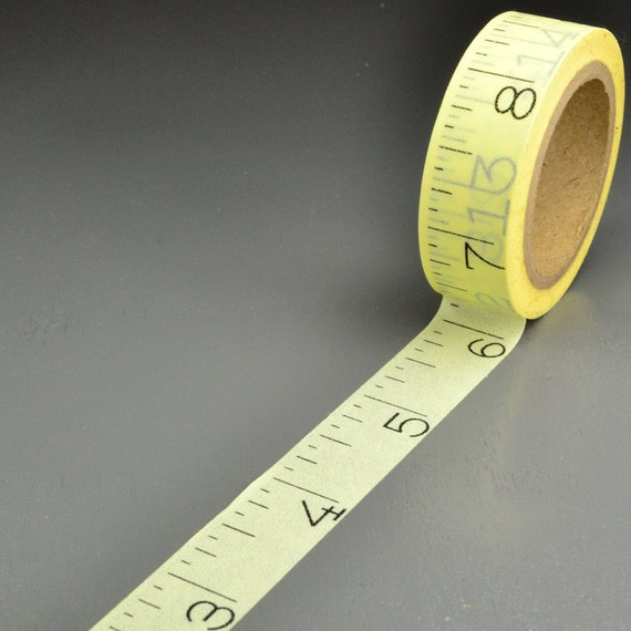 Ruler - Measuring Tape Washi Tape