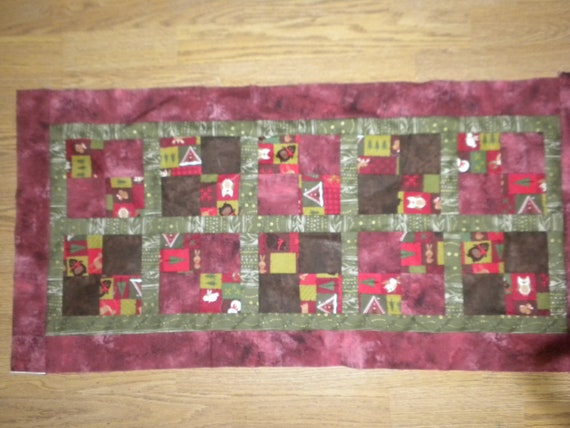 Christmas Table runner/ woodsy