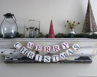 Christmas Banner - MERRY CHRISTMAS - Decoration or photo prop