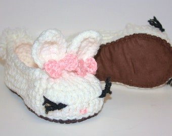 Suede Sole - Baby/Youth Bunny Slippers