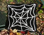 Pillow Cover - Spiderweb Black Halloween Pillow