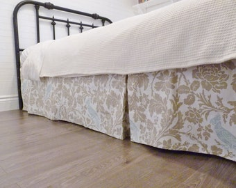 Custom Box-Pleat Bed Skirt