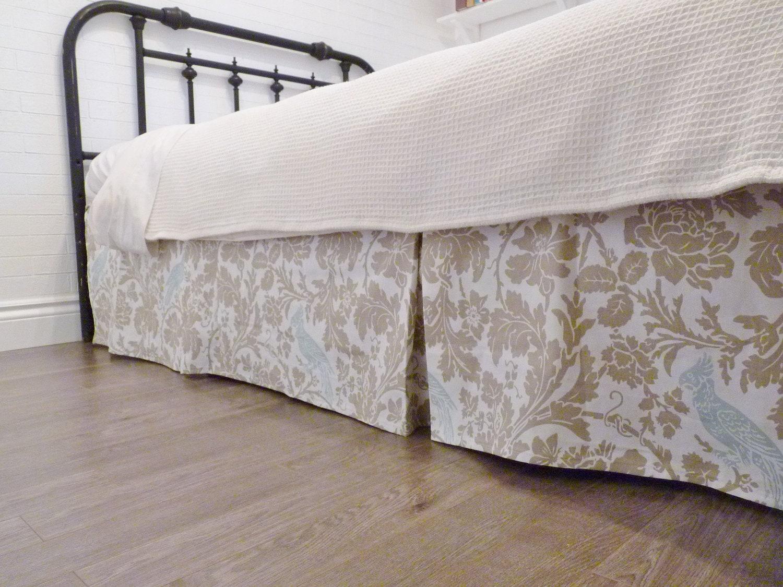 custom box pleat bed skirt