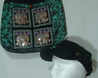 Shoulder Tote Bag with FREE Cap (Teal),R10