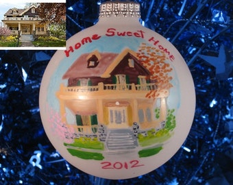 Personalized from photo Painted Custom  Home Ornaments