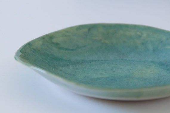 Turquoise Green Shallow Bowl