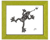 Frog - Custom Personalized Newborn Print UNFRAMED