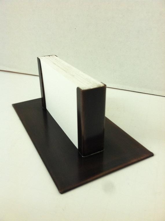 Modern copper business card holder bronze patina for Modern business card case