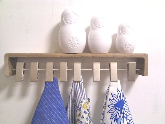Scarf Holder Wall Mounted Wooden Shelf