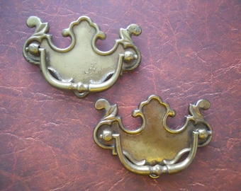 Pair of Bold Antique Drawer Pulls