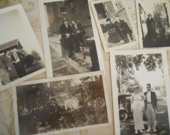 1920s-40s Young Couples Antique Black and White Photo Lot No.3