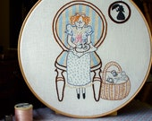 Little Dorrit - Embroidery Pattern PDF - Includes Stitch Guide - Dickens - Embroiderer - Stitchy
