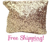 Zara Inspired, Gold Sequin Clutch Bag, Bridesmaid Gift, REDUCED PRICE