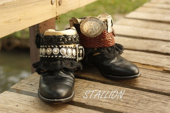 Stallion...Upcycled Leather Hobo Cowboys Booots