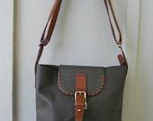 Vintage FENDI Canvas and Leather Bucket Purse
