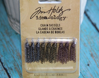 Tim Holtz - idea-ology - Chain Tassels for Scrapbooking,Mini Album,Card Making, Altered and Mix Media Art,Journals,Collages