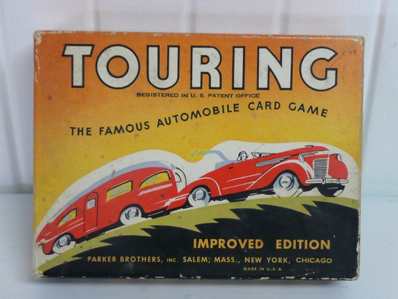 1947 TOURING Card Game, Parker Brothers, Famous Automobile Card Game, Improved Edition