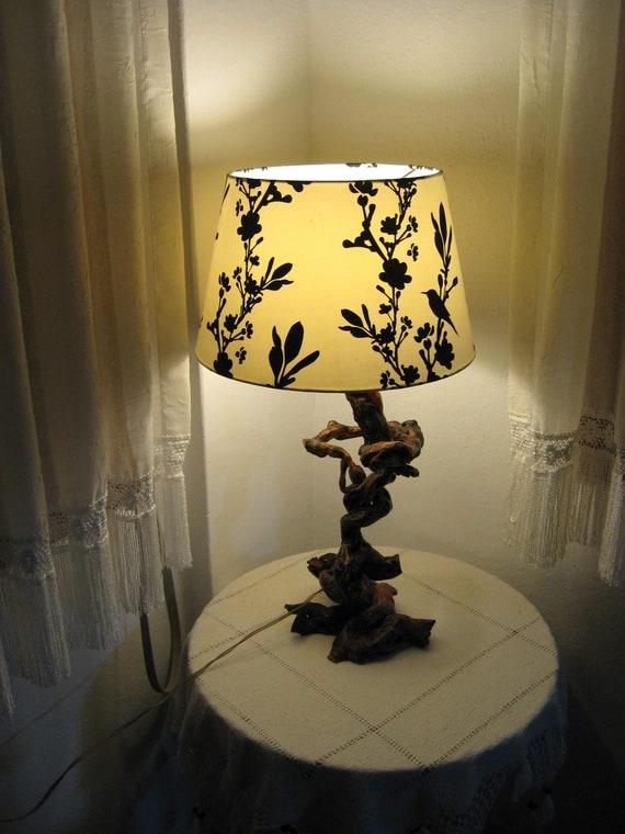 Decorative unique lamp made of vine
