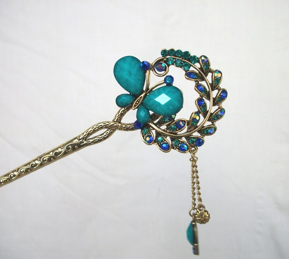 Oriental Vintage Style Hair Sticks Hair Pin Bridal By