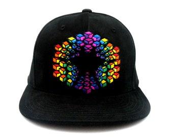 M/L Saxton Waller ROYGBIV Earth Grid Allignment Hat