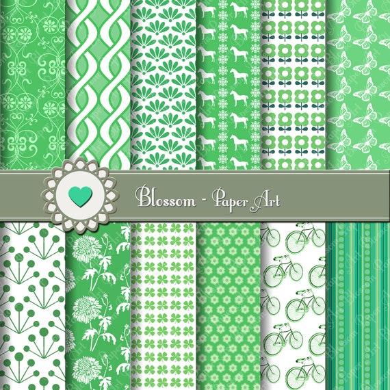 Papeles decorativos en verde papeles para imprimir dise os - Papeles decorativos de pared ...