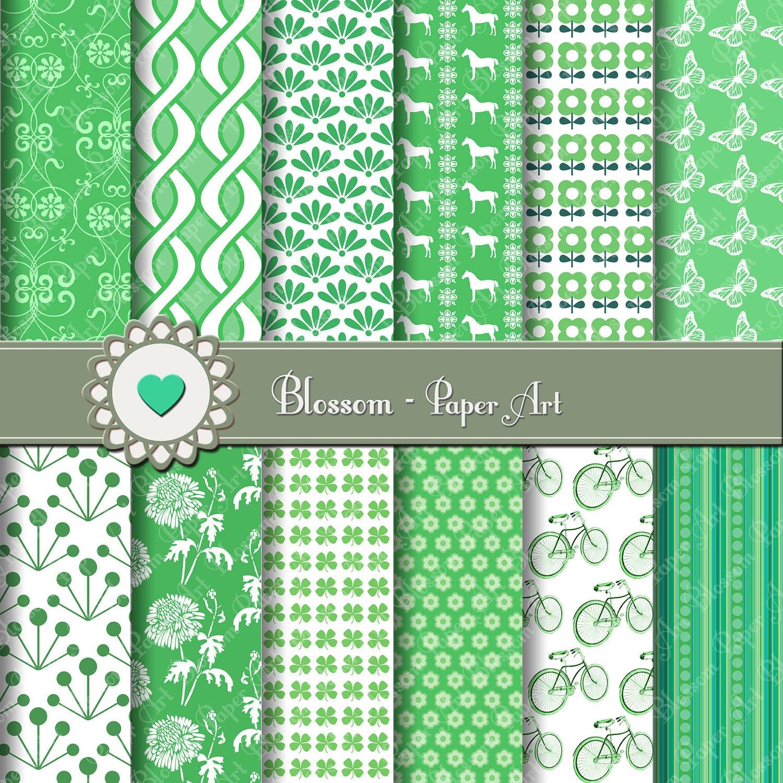 Papeles decorativos en verde papeles para imprimir dise os - Papeles decorativos para imprimir ...