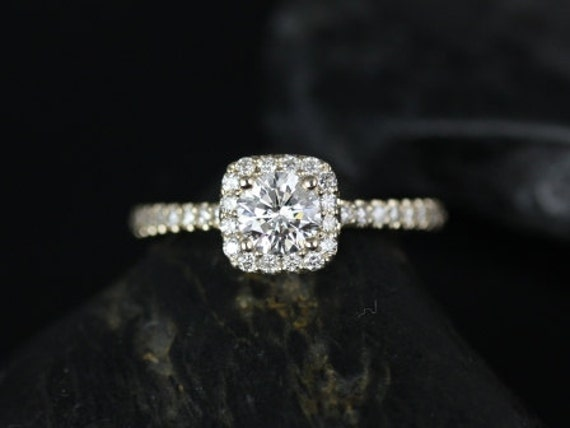 14kt Yellow Gold Cushion Halo Diamond Engagement Ring (Reserved for Matthew H.)
