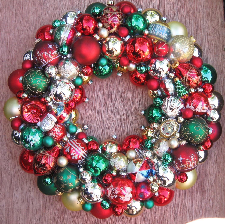 Vintage Ornament Wreath 77