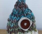 Handmade Knitted Newborn Gnome Chunky Beanie
