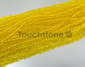 11/0 Czech Seed Beads Yellow Transparent 35 Grams #26-110143