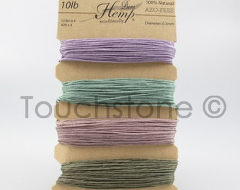 Hemp Twine Cord Vintage Colors 10lb 168ft Crafters Thread