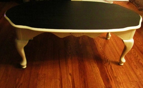 shabby chic chalkboard coffee table