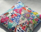 Lavender and Liberty London Cushion / Sachet with Blue Linen