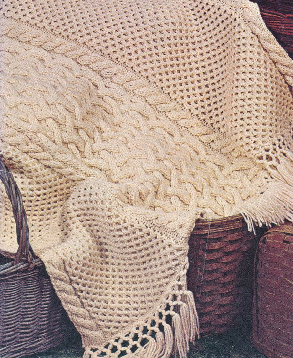 Knit Cable Afghan Pattern : Super Cozy Knit Cable and Lattice Afghan by CraftyPatternsForYou