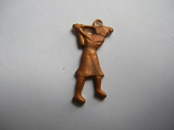 12 Vintage solid brass golf findings 1.00 SALE