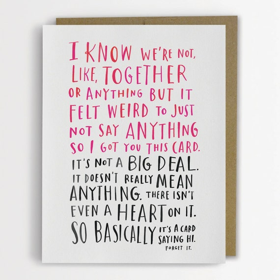 Awkward Dating Card by Emily McDowell I know were – Best Friend Valentine Card