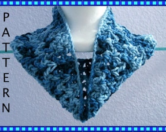 Crochet Pattern Cozy Cowl Neck Warmer Infinity Scarf Digital Download