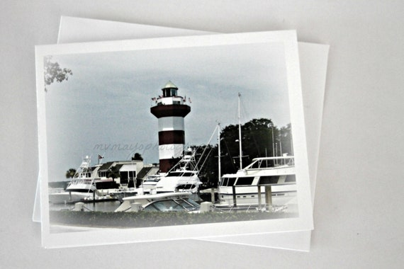 LightHouse Picture / Lighthouse Photo / Hilton Head Island / Lighthouse Print / Lighthouse Photo Card / Free US Shipping