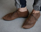 SALE 40%  Camel oxford shoes with a corner