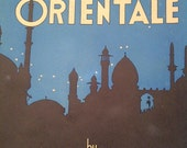 1931 Vintage Oliver Ditson Sheet Music - INTERMEZZO ORIENTALE by James H. Rogers