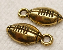 Gold tone Football Charms (10) - A27