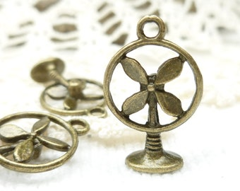 Antique Bronze Electric Fan Charms (6) - A97