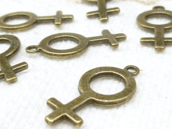 Female Gender Symbol Charms (6) - A38