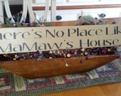 There's No Place Like MaMaw's House Wooden Sign