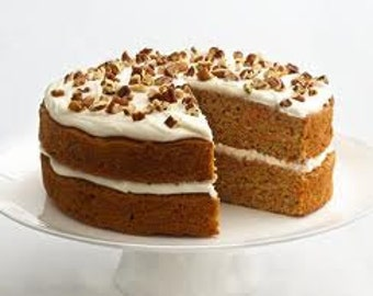 Carrot Cake Cake 2 Layer 6inch Round,Wedding favors, Cookie PLatters, Party Platters, Cookie Baskets Gifts