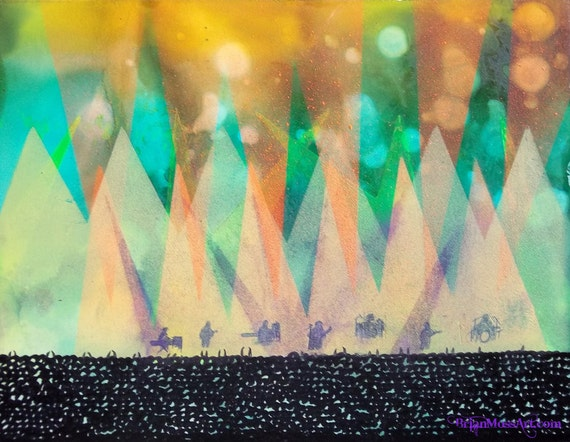 ORIGINAL Live Concert Rock and Roll Band Painting