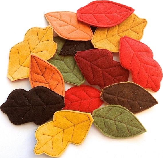 Items similar to fall felt leaves felt leaf confetti for Autumn leaf decoration