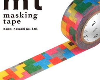 MT Washi Masking Deco Tape Puzzles Tetris Designed by Mina Perhonen