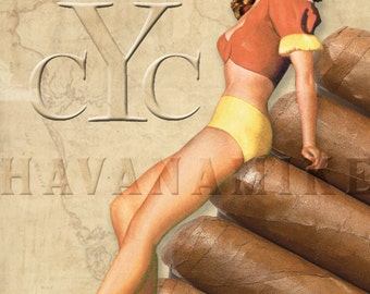 YBOR CITY Cigar Co. Pinup Poster Print